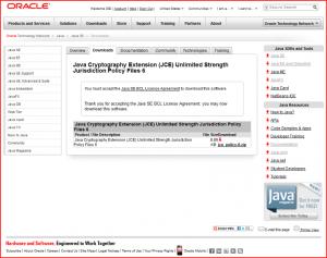 無制限強度の管轄ポリシーファイルをダウンロード